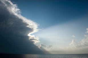 Weather changes can be swift, Campeche Bay, Mexico.